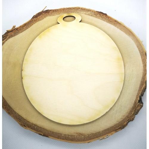 Sklejka bombka okrągła 12cm