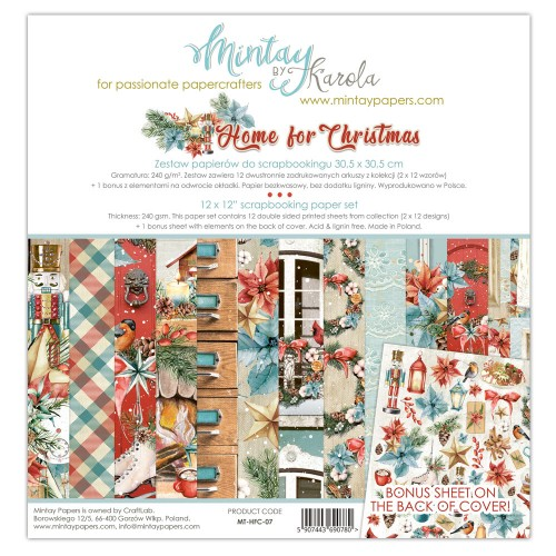 Zestaw papierów Mintay Home for Christmas