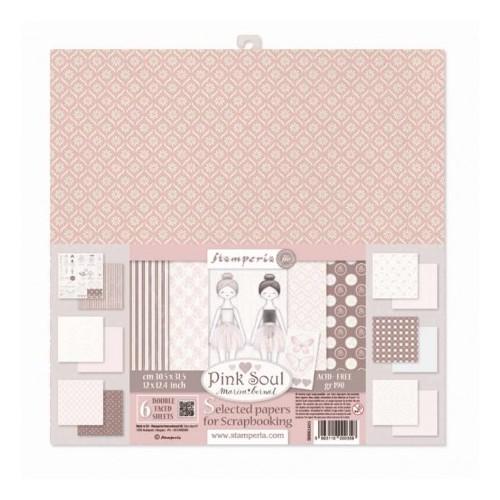 Zestaw papierów Stamperia Pink Soul