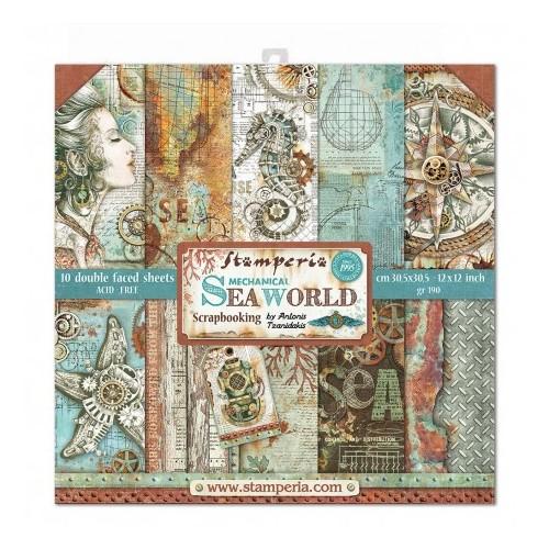 Stamperia zestaw papierów SEA WORLD
