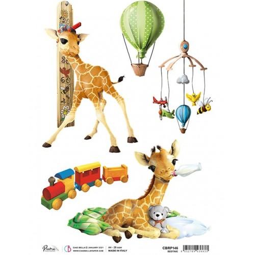 Papier ryżowy CIAO BELLA Bedtime żyrafa