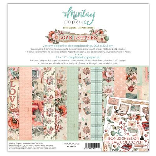 Zestaw papierów Mintay Love letters 30x30