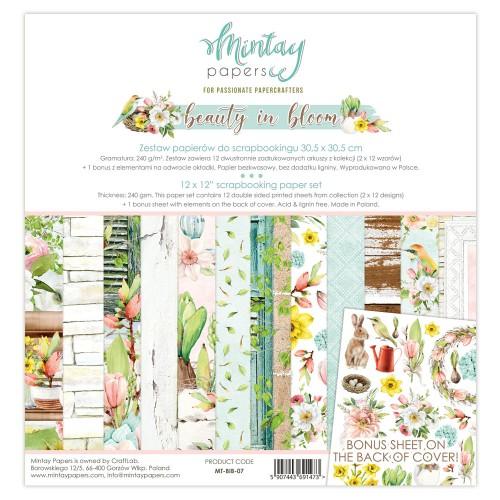 Zestaw papierów Mintay Beauty in bloom 30x30