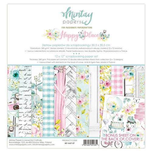 Zestaw papierów Mintay Happy Place 30x30