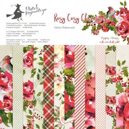 Zestaw papierów Rosy Cosy Christmas  13P  30x30